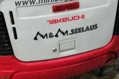 Beschriftung M&M Seelaus