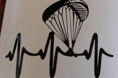 Aufkleber Paragleiter Herzschlag