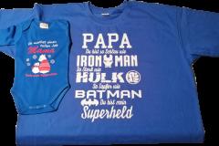 Veredeltes T-shirt und Baby Body