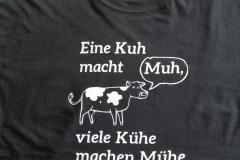 T-Shirt Kuh macht Muh - Folienwerkstatt