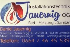 Firmentafel Jauernig